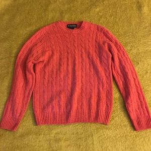 Coral Pink Brooks Brothers Cashmere Salmon Sweater