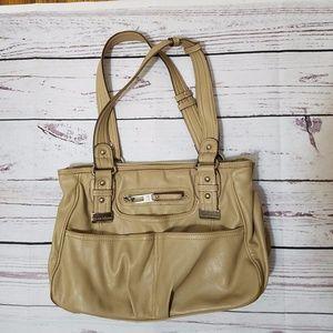 Tyler Rodan Khaki Multi-pocket Shoulder Bag