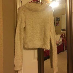 Silence + Nose fuzzy cream sweater