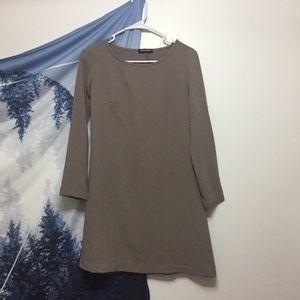 American Apparel Taupe Crepe Shift Dress