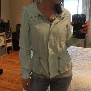 Zara mint green jacket