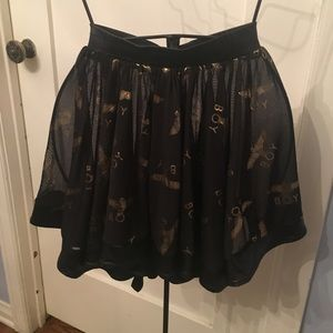 1ac35c171c8cb Boy London Skirts - Boy London Rara Skirt in Gold