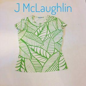 J McLaughlin leaf print Catalina cloth top