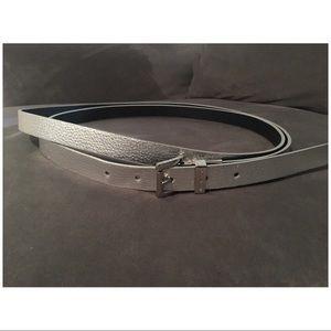 Michael Kors Double Wrap Silver Reversible Belt
