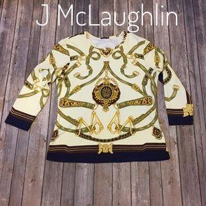 J McLaughlin bridle print Catalina cloth top