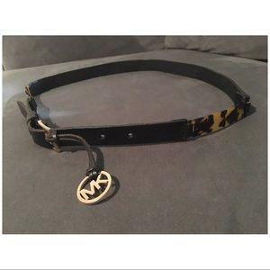 Michael Kors Leather Tortoise Belt