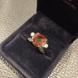 Jewelry - 💍 Diamond Candle Ring with Amber stone