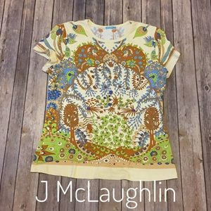 J McLaughlin print Catalina Cloth short sleeve top