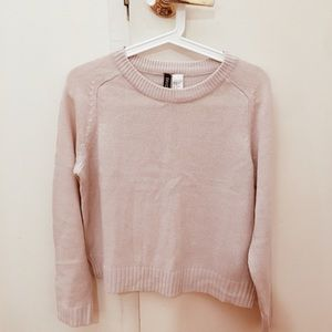 pink h&m cropped sweater on Poshmark
