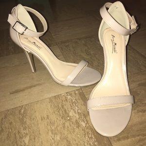 Anne Michelle Nude Strap Heels