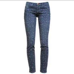 Current Elliott floral Stilleto jeans