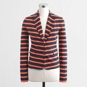 J. Crew Striped Knit Blazer