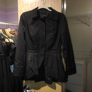 Black Cynthia Rowley jacket with back pleating