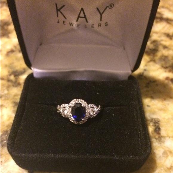 Kamienie Szlachetne Kays Jewelers Sterling Silver 3 4 Ct Blue Sapphire White Sapphires Size 7 Ring Bizuteria I Zegarki Mayoshop Org