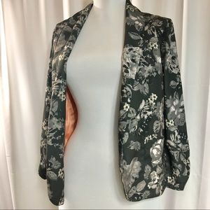 Xhilaration Rose Patterned Blazer