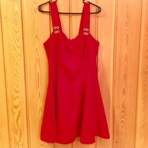 Pinup Red sparkle skater vintage swing dress