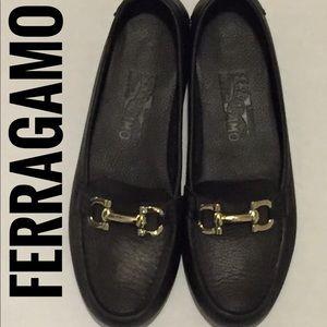 Ferragamo Gancio Bit Driver Loafers
