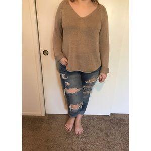H&M Oversized Low-cut Sweater