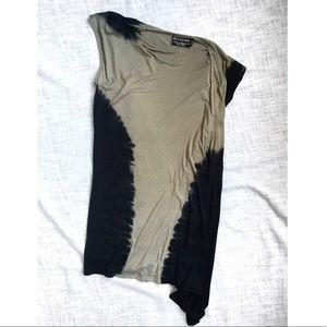 Asymmetrical tie dye tunic