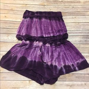 Tye dyed purple romper