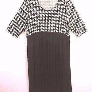 Ulla Popken Dress Plus Sz 24/26 Shaped Fit Black