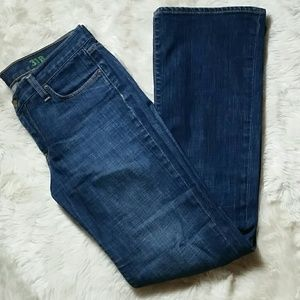 J Crew Bootcut Stretch Dark Wash Jeans Size 31