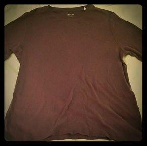 Sonoma Long Sleve Plum Crew Tshirt