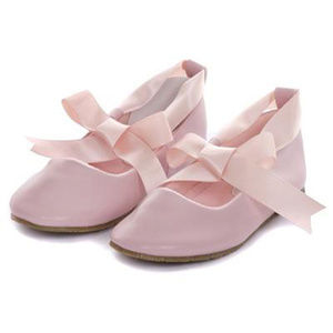 cc32cf1976 Other - PINK Balerina Flower Girl Shoes with Ribbon Ties
