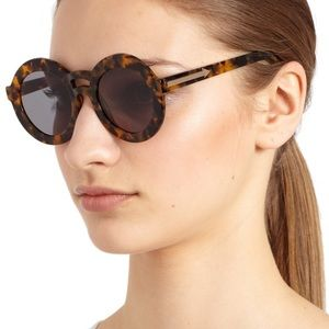 Karen Walker Joyous round tortoise sunglasses