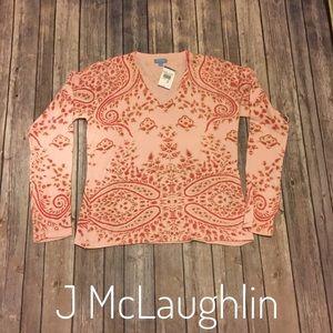 J McLaughlin Sisley print sweater NWT