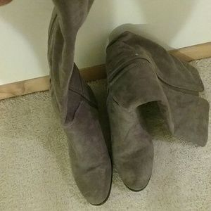 Shoes - Grey knee boots