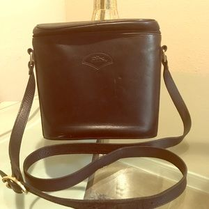 Longchamp crossbody leather bag