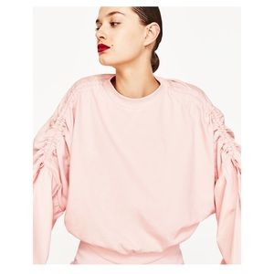 pink sweatshirt from Zara