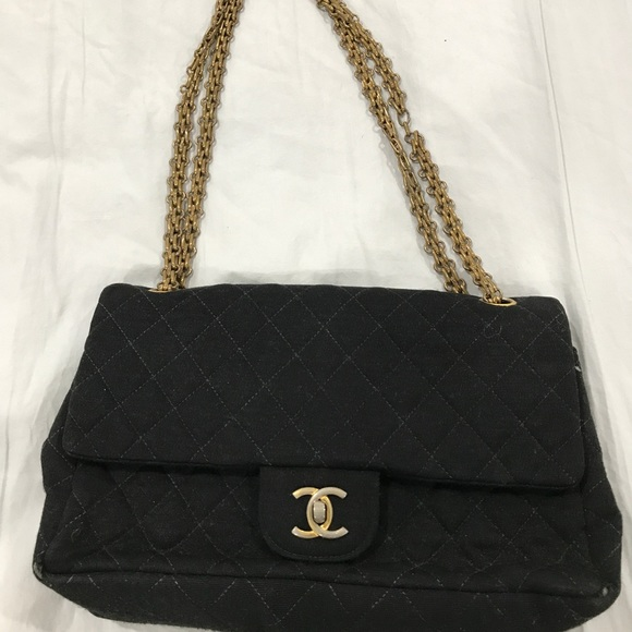 CHANEL Bags | Crossbody Quilted Fabric Purse