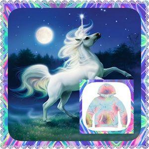 """Wildfox Kids """"Unicorn Dye Malibu"""" Pullover Hoodie"""