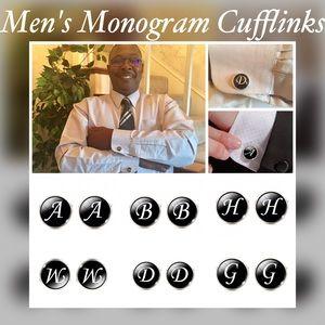 Men's Monogram Cufflinks