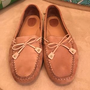 Clarks size 9 leather suede Dunbar boat shoes