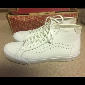 New Vans Court Mid DX Leather White Men's 9.5