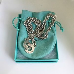 Auth. Tiffany & Co. 1837 Circle Clasp Necklace