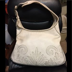 Cole Haan large cream leather hobo