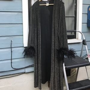 Vintage feather robe