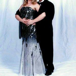 Alyce Designs 14 Sequin Gown