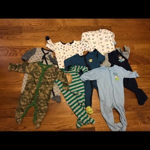 6-9 mo footie pjs lot