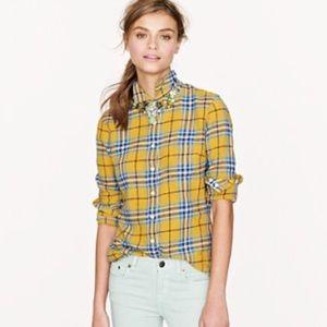 J.Crew Boy shirt in plaid yellow 6