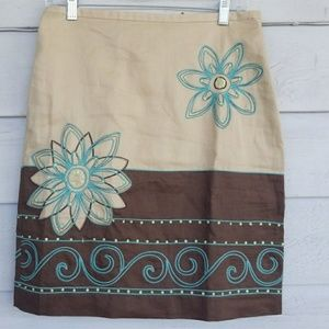 FLORAL EMBROIDERED LADIES SKIRT BY CUTE OPTIONS