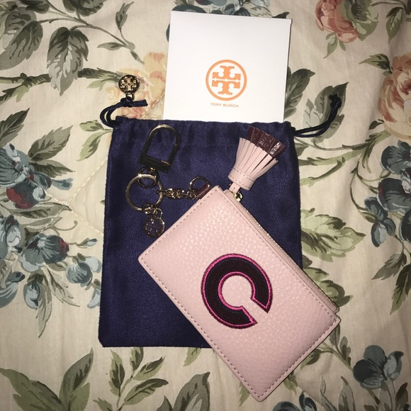 quality design 284df 24eaa Tory Burch monogram card case keychain BRAND NEW NWT