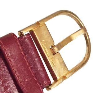 Christian Dior red leather vintage belt