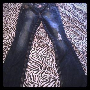 Mossimo boot cut distressed denim 13
