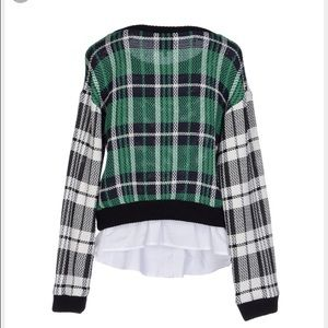 In search of Sea plaid combo sweater