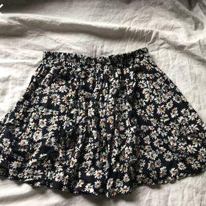 Brandy Melville Floral Skater Skirt